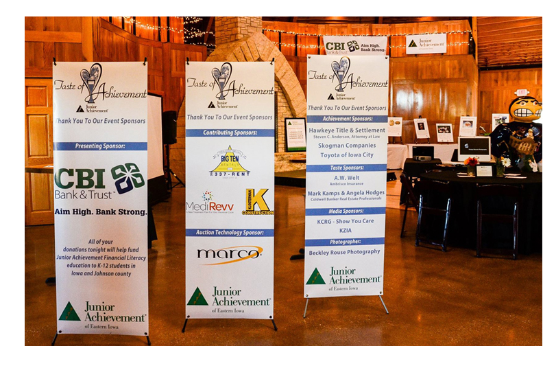 Photo of display at a Junior Achievement Fundraising